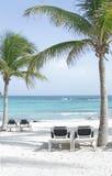 Spiaggia del Messico del Maya del Riviera fotografie stock