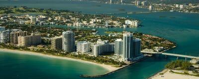 Vista aerea della spiaggia di Miami Fotografia Stock