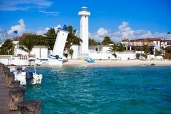 Spiaggia del Morelos di Puerto in maya di Riviera fotografia stock libera da diritti