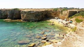 Spiaggia del mosche di Cala o di Pillirina in Sicilia Fotografia Stock Libera da Diritti