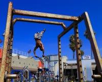 Spiaggia del muscolo, Venezia, California Fotografia Stock