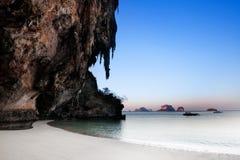 Spiaggia del nang di Ao, Railay, provincia di Krabi, la migliore spiaggia in Thailan immagini stock