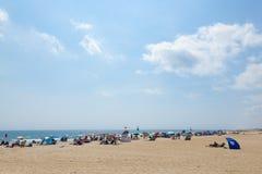 Spiaggia del New Jersey del boschetto dell'oceano Fotografia Stock Libera da Diritti