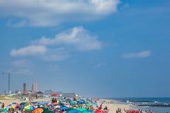 Spiaggia del New Jersey del boschetto dell'oceano Immagini Stock Libere da Diritti