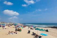 Spiaggia del New Jersey del boschetto dell'oceano Fotografia Stock