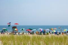 Spiaggia del New Jersey del boschetto dell'oceano Immagini Stock
