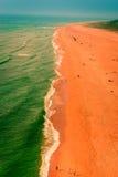 Spiaggia del nord atlantica di CoastGreat Nazaré Immagine Stock Libera da Diritti