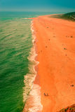 Spiaggia del nord atlantica di CoastGreat Nazaré Immagini Stock
