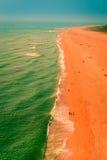 Spiaggia del nord atlantica di CoastGreat Nazaré Fotografia Stock