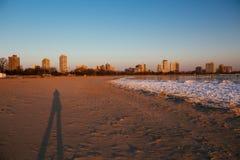 Spiaggia del nord Chicago del viale Immagine Stock Libera da Diritti