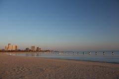 Spiaggia del nord Chicago del viale Fotografie Stock