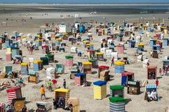 Spiaggia del nord di Borkum, Germania Fotografia Stock Libera da Diritti