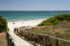 Spiaggia del nord di Cottesloe, Perth, Australia occidentale immagini stock
