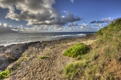 Spiaggia del nord Kaneohe Marine Corps Base Hawaii Fotografia Stock
