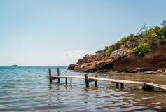 Spiaggia del nudista Fotografia Stock