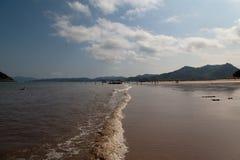 Spiaggia del paesaggio Immagini Stock Libere da Diritti