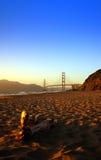 Spiaggia del panettiere, San Francisco fotografie stock