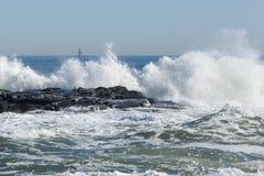 Spiaggia del parco di Asbury Fotografie Stock
