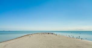 Spiaggia del parco di Crandon fotografia stock