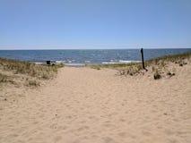 Spiaggia del parco di stato del Pj Hoffmaster fotografia stock
