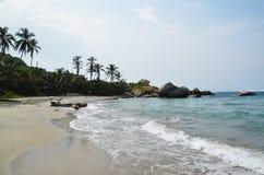 Spiaggia del parco di Tayrona Fotografia Stock Libera da Diritti