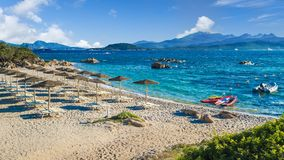 Spiaggia del Pirata Capriccioli, amazing beach of Emerald coast, Sardinia island, Italy. Spiaggia del Pirata Capriccioli, amazing beach of Emerald coast, east stock photography