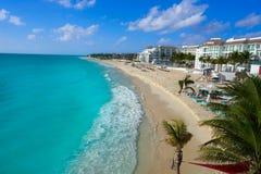 Spiaggia del Playa del Carmen in maya di Riviera fotografia stock
