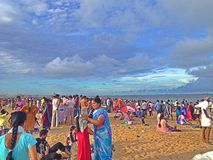 Spiaggia del porticciolo Immagine Stock Libera da Diritti