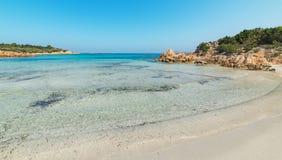Spiaggia del Principe shore. Line in Costa Smeralda, Sardinia Royalty Free Stock Image