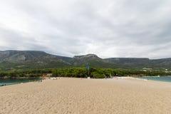 Spiaggia del ratto di Zlatni in Bol, Croazia Fotografie Stock Libere da Diritti
