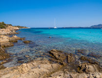 Spiaggia del Relitto, ilha de Caprera Fotos de Stock Royalty Free