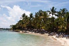 Spiaggia del ricorso dell'Isola Maurizio Fotografia Stock