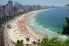 Spiaggia del Rio de Janeiro Immagini Stock