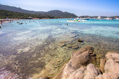 Spiaggia del Stor Pevero, Sardinia, Italien Fotografering för Bildbyråer