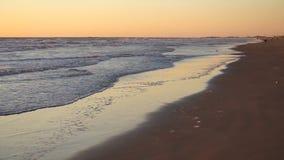 Spiaggia del sud dell'isola di cappellano della spiaggia del golfo del Messico di alba stock footage