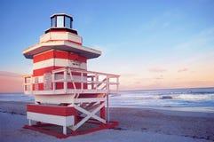 Spiaggia del sud di Miami, Stati Uniti Fotografie Stock