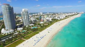 Spiaggia del sud, Miami Beach florida stock footage