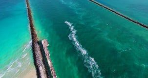 Spiaggia del sud, Miami Beach, Florida U.S.A. stock footage