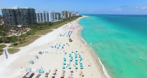Spiaggia del sud, Miami Beach florida U.S.A. archivi video