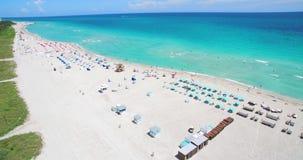 Spiaggia del sud, Miami Beach florida U.S.A. stock footage