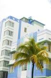 Spiaggia del sud Miami di architettura storica di art deco fotografia stock libera da diritti