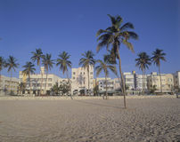 Spiaggia del sud Miami, distretto di art deco di Florida Immagini Stock Libere da Diritti