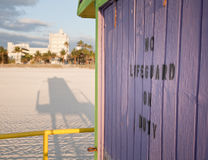 Spiaggia del sud - nessun bagnino Fotografia Stock Libera da Diritti