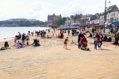 Spiaggia del sud, Scarborough, Yorkshire immagini stock libere da diritti