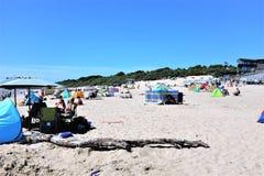 Spiaggia del sud, Tenby, Galles del sud, Regno Unito immagine stock libera da diritti
