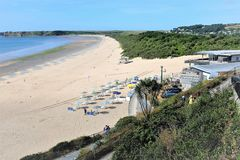 Spiaggia del sud, Tenby, Galles del sud, Regno Unito Immagini Stock