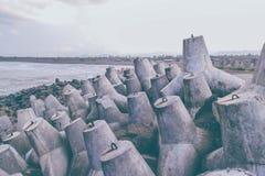 Spiaggia del tetraedro fotografie stock