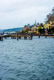 Spiaggia dell'acqua del bacino di Seattle Puget Sound Immagine Stock Libera da Diritti