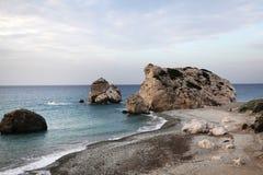Spiaggia dell'Afrodite nel Cipro Fotografia Stock