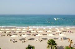 Spiaggia dell'albergo di lusso Immagine Stock